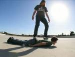 Sneaux - 'Human Skateboard'