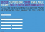 Super Bowl Spot for Sale: One Stunt That's Piqued Our Curiosity