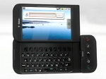 The G1 has flip-out keyboard for those who never got used to the iPhone's virtual type pad.