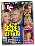 'Us Weekly' this week looks at another rumored Hollywood romance. No word yet as to how Kate Hudson feels about journalism.