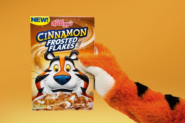 Kellogg Co.'s new cinnamon Frosted Flakes.
