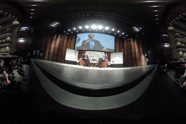 Former President Obama in conversation last year on the first day of SXSW Interactive