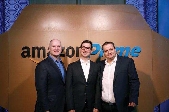 Amazon recently began offering Prime memberships in Mexico. From left, Greg Greeley, VP president of media products for Amazon; Fernando Ramirez, product management leader for Amazon Mexico; and Luis Correa, director of operations for Amazon Mexico.