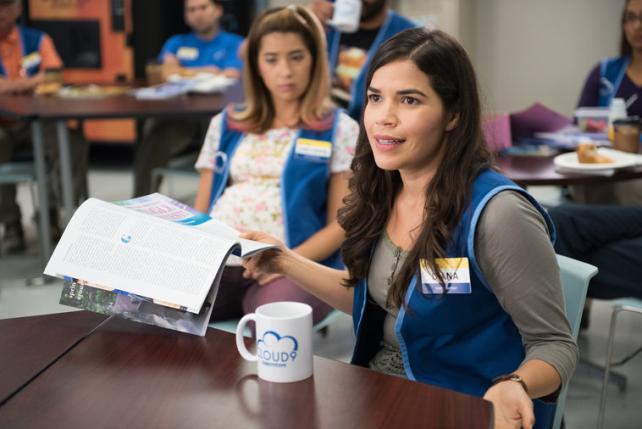 America Ferrera as Amy in NBC's new single-camera comedy 'Superstore.'
