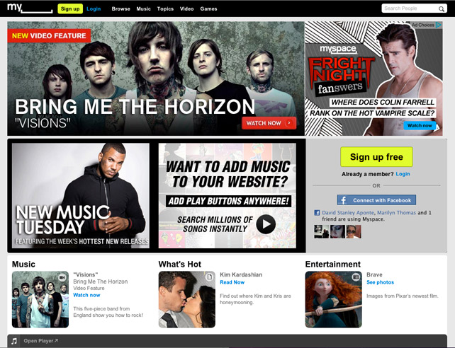 Revamped MySpace Will Have iTunes, Spotify and Vevo in Its Crosshairs
