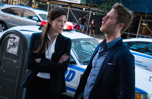 Jennifer Carpenter as Agent Rebecca Harris and Jake McDorman as Brian Finch in 'Limitless,' which is looking good for CBS.