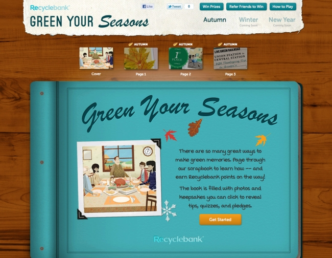 Recyclebank Launches 'Green Your Seasons'