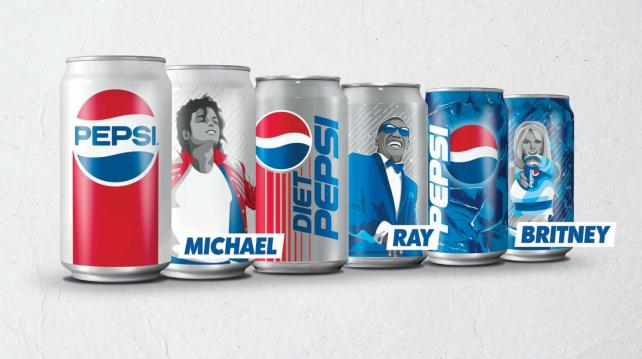 Pepsi and Diet Pepsi 12-oz. limited-edition Music Icon cans