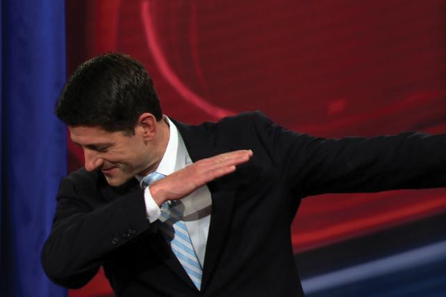 Paul Ryan: A little dab'll do ya.
