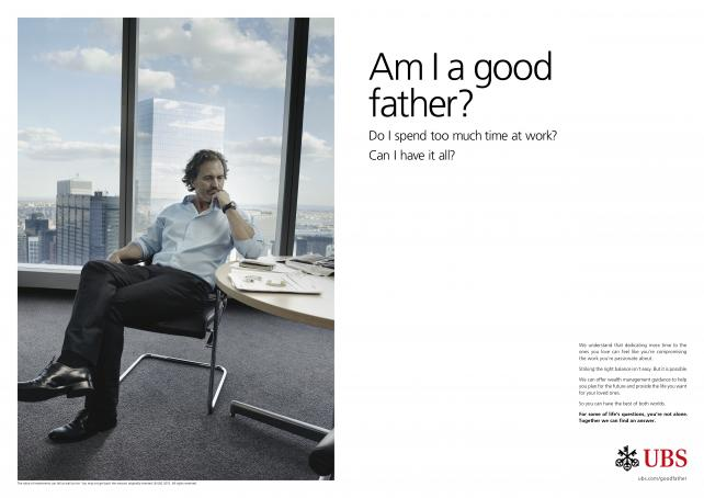 Campaign photography by Annie Leibovitz for the new UBS global brand campaign, launching 1 Sept. 2015. ©Annie Leibovitz