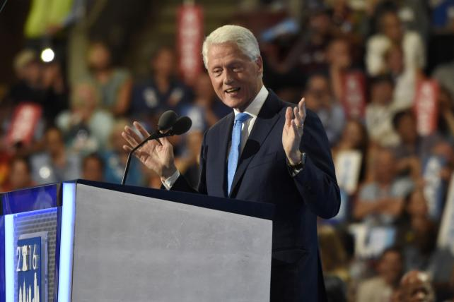 Bill Clinton spoke for most of the prime 10 p.m. hour.