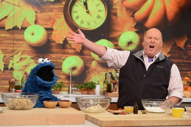 Mario Batali and the Cookie Monster on