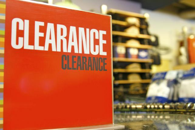Big clearance sales loom on the horizon for stores.