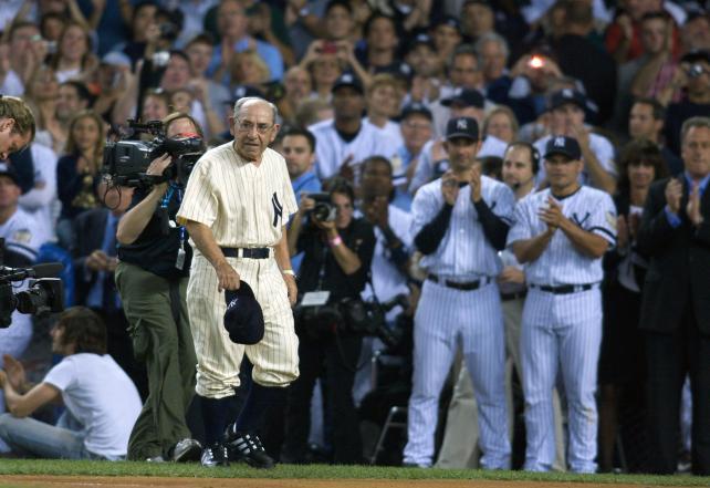 Yogi Berra at Yankee Field in 2008