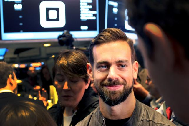Jack Dorsey, chief executive officer of Square, tours the New York Stock Exchange on Thursday.