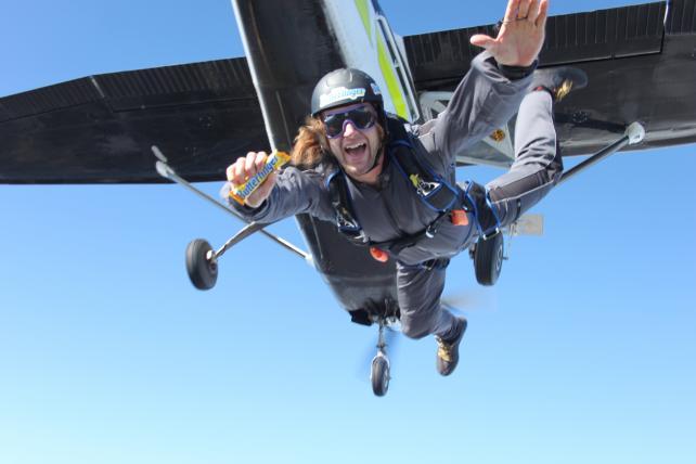 Butterfinger's skydiver.