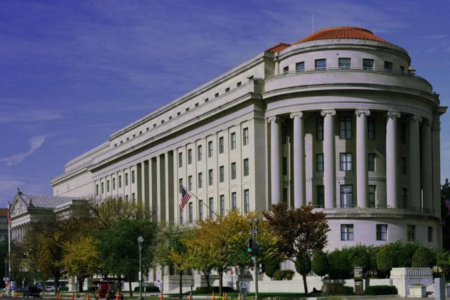 Federal Trade Commission headquarters, located in Washington, D.C.'s Apex Building at Constitution Avenue and 17th Street.