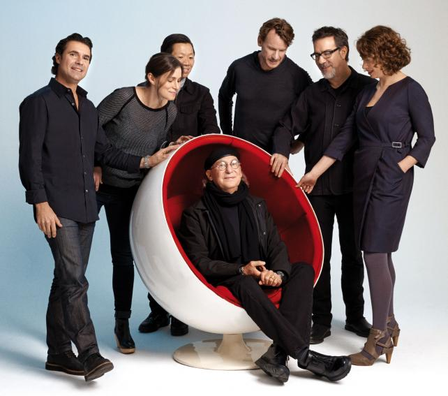 (From l.) Seth Solomons, Andrea Ring, Richard Ting, Nick Law, Barry Wacksman, Chloe Gottlieb and, seated, Bob Greenberg