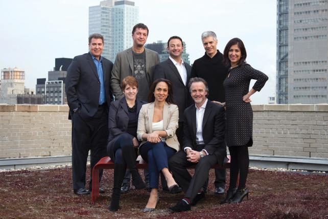 First row (from l.) Stephanie Fierman; Khartoon Ohan;Phil Cowdell. Second row (from l.) Steve Carbone; Sasha Savic; Adam Komack; Mark Fortner; Archana Kumar