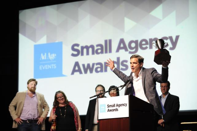 O'Keefe, Reinhard & Paul accepting the 2015 Small Agency of the Year Award