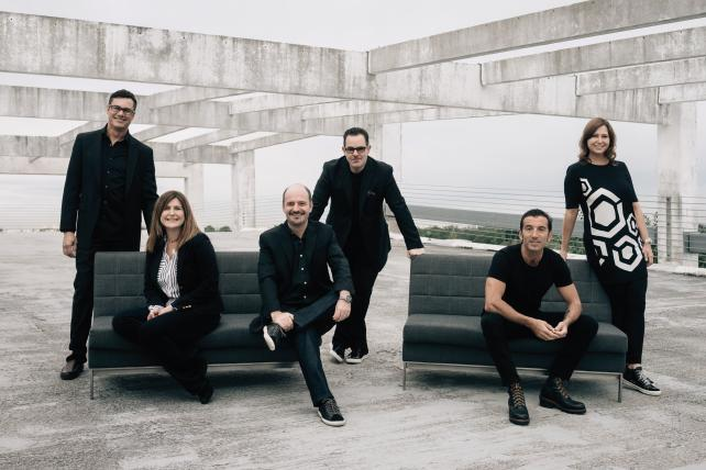 (From l.) Leo Peet, VP-director of finance; Angela Battistini, senior VP-account services; Isaac Mizrahi, co-president and chief operating officer; Luis Miguel Messianu, creative chairman and CEO; Alvar Suñol, co-president and chief creative officer; Michelle Headley, senior VP-operations.
