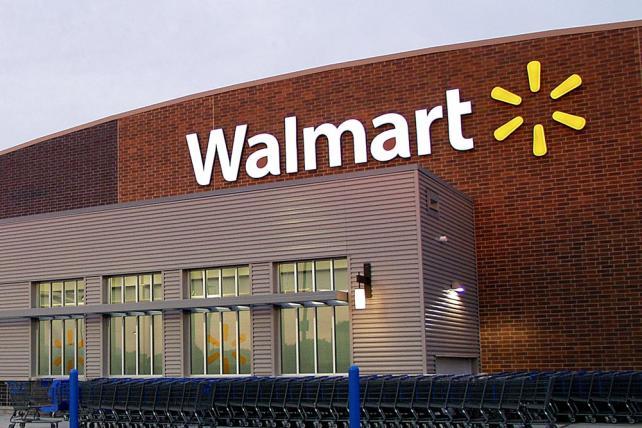 Walmart store exterior.