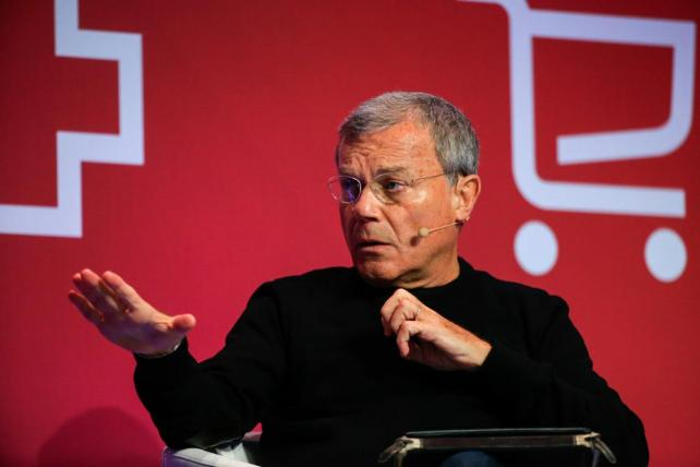 Martin Sorrell speaks at the Mobile World Congress in Barcelona, Spain, on Feb. 24, 2016.
