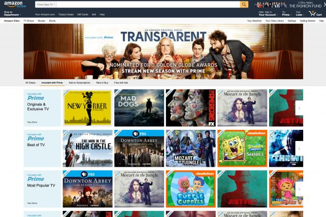 Amazon is looking into selling slim packages of TV networks over the internet, according to industry executives.
