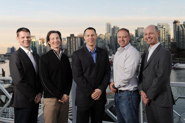 Cardinal Path leadership (l.-r.: John Hossack, Alex Langshur, Corey Koberg, David Booth, David Eckman).