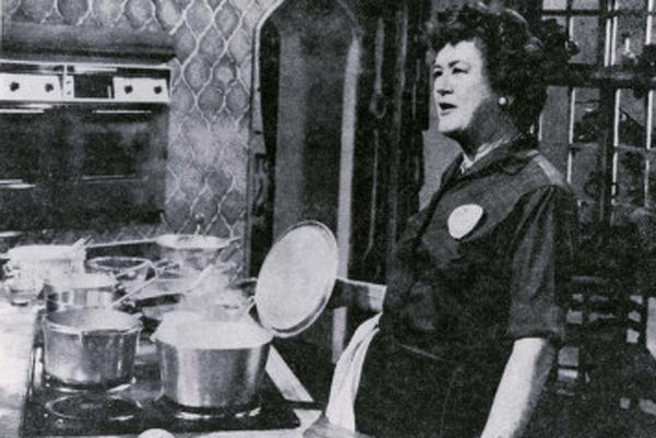Julia Child appearing on KUHT.