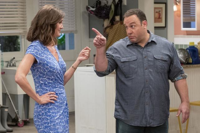Erinn Hayes and Kevin James in 'Kevin Can Wait', a new CBS comedy about a dad taking on more caregiving duties.