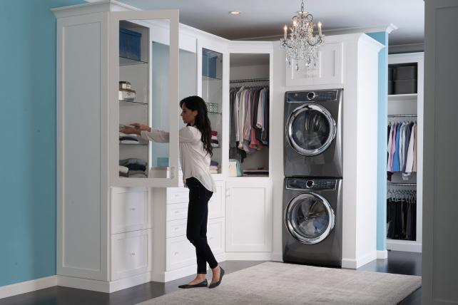 Electrolux laundry washer and dryer pair.