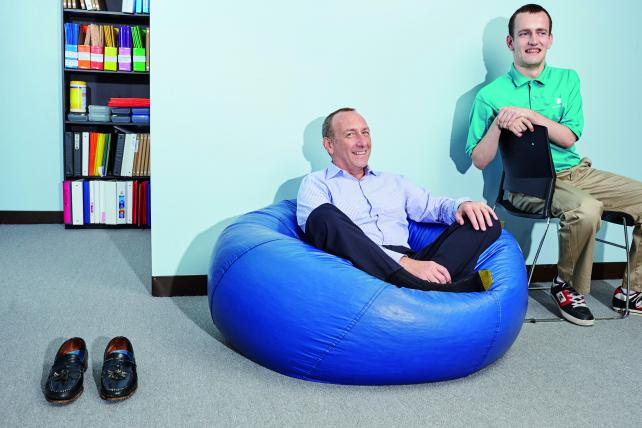 AutonomyWorks founder David Friedman with his son Matthew