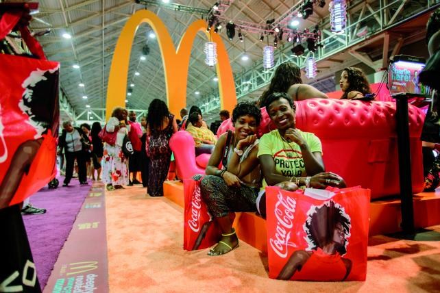 Attendees stop by the McDonald's activation.