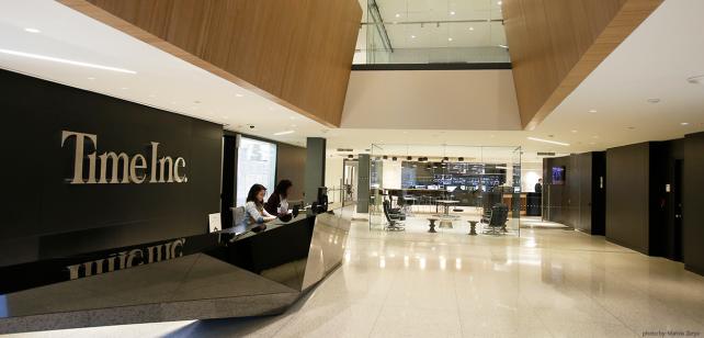 Time Inc.'s headquarters in Lower Manhattan.