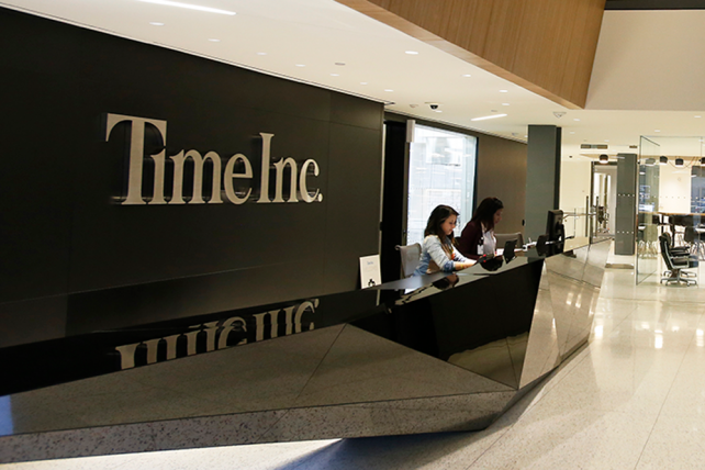 Time Inc.'s headquarters in Lower Manhattan.
