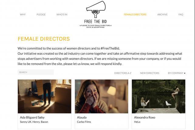 The Free the Bid website.