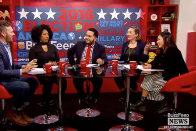 From BuzzFeed's election night live stream on Twitter.