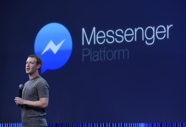 Facebook CEO Mark Zuckerberg speaks during the Facebook F8 Developers Conference in San Francisco in March.