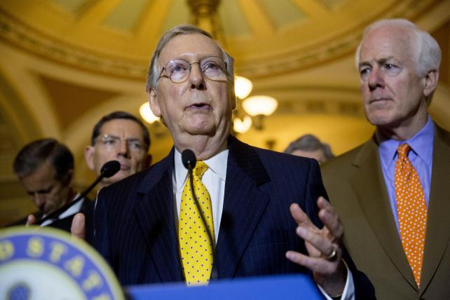 Senate Majority Leader Mitch McConnell, a Republican from Kentucky, earlier this year.