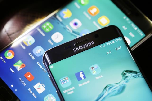 Samsung's Galaxy S6 Edge Plus smartphones.