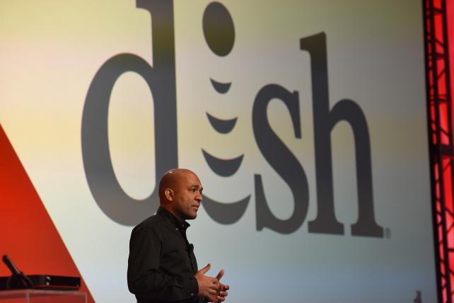 Vivek Khemka, executive VP and chief technology officer of Dish Network, speaks during an event at the 2016 Consumer Electronics Show in Las Vegas.