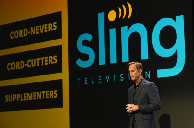 oger Lynch, chief executive officer of Sling TV, during his presentation at the 2016 Consumer Electronics Show.
