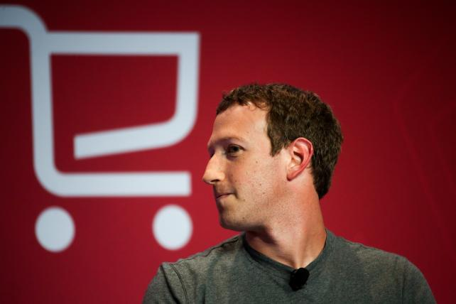 Facebook CEO Mark Zuckerberg during a keynote session at the Mobile World Congress in Barcelona in February.