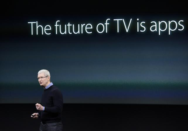 Apple CEO Tim Cook speaks during an Apple event in Cupertino, Calif. on March 21.
