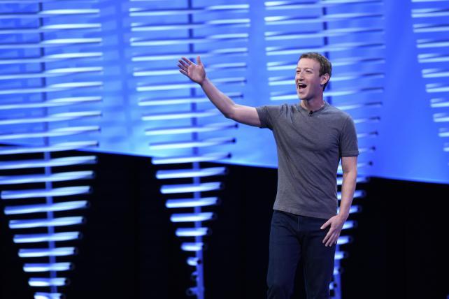 Facebook CEO Mark Zuckerberg at F8 on Tuesday.