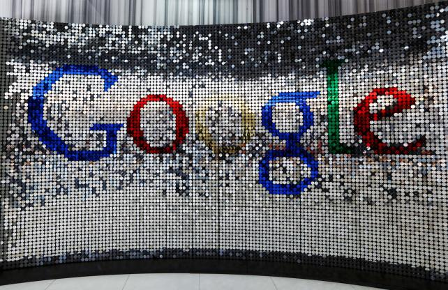 A sign at Google's new U.K. headquarters in London.