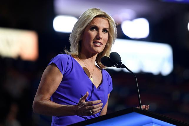 Laura Ingraham speaks during the Republican National Convention in Cleveland in 2016.