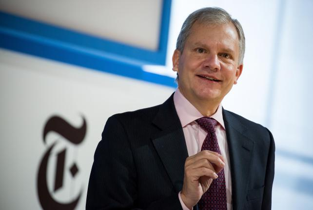 Arthur Sulzberger Jr., chairman of The New York Times Co., speaks at a New York Times DealBook conference.