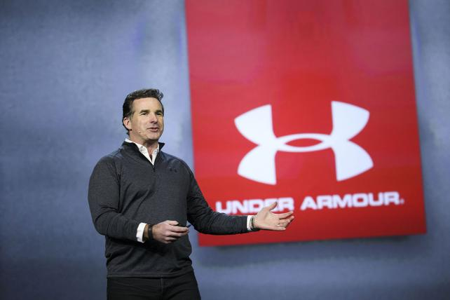 Kevin Plank, founder and CEO of Under Armour Inc., speaks during the 2017 Consumer Electronics Show in Las Vegas.